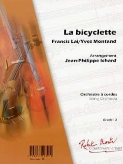 Yves Montand & Francis Lai - The bicycle - Sheet Music - di-arezzo.co.uk