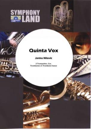 Janko Nilovic - Quinta Vox - Partition - di-arezzo.fr