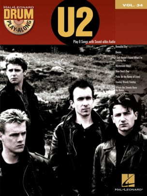 Drum Play-Along Volume 34 - U2 U2 Partition Batterie - laflutedepan