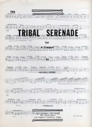 Mitchell Peters - Tribal Serenade for 4 Timpani - Partition - di-arezzo.fr