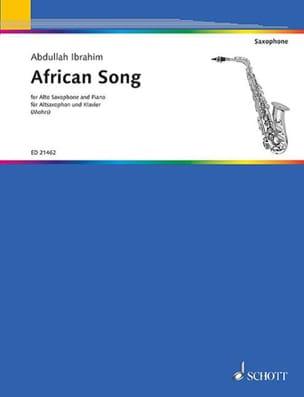 African Song Abdullah Ibrahim Partition Saxophone - laflutedepan