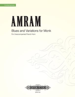 David Amram - Blues and Variations for Monk - Partition - di-arezzo.fr