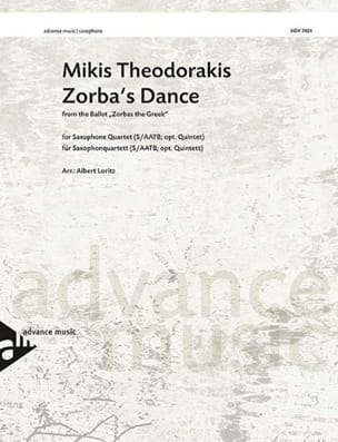 Zorba's Dance - Mikis Theodorakis - Partition - laflutedepan.com