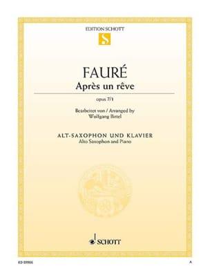 Après un rêve, op. 7/1 - Gabriel Fauré - Partition - laflutedepan.com
