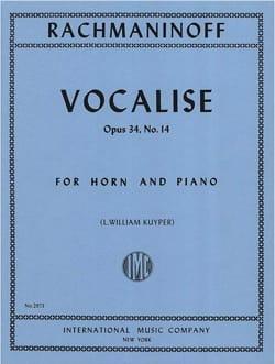 Vocalise Opus 34 - N°14 - RACHMANINOV - Partition - laflutedepan.com