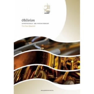 Astor Piazzolla - Oblivion - Saxophone Quartet - Sheet Music - di-arezzo.co.uk