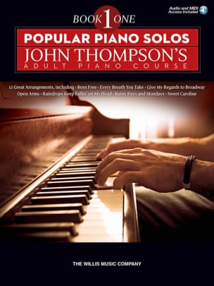 - Popular Piano Solos - John Thompson's Adult Piano Course - Book 1 - Partition - di-arezzo.fr