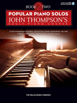 - Popular Piano Solos - John Thompson's Adult Piano Course - Book 2 - Partition - di-arezzo.fr