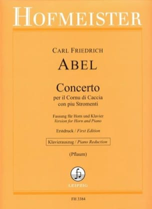 Abel Carl Friedrich - Concerto, for he Cornu di Caccia with Stromenti - Sheet Music - di-arezzo.com