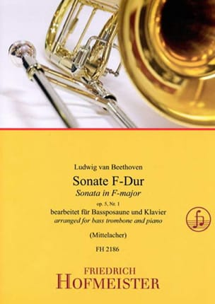 Sonate en Fa Majeur - Opus 5, N°1 - BEETHOVEN - laflutedepan.com