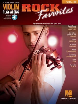 Violin Play-Along Volume 49 - Rock Favorites Partition laflutedepan