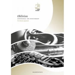 Astor Piazzolla - Oblivion - Horn Quartet - Sheet Music - di-arezzo.co.uk