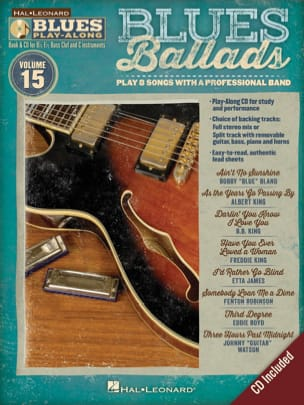 Blues Play-Along Volume 15 - Blues Ballads - laflutedepan.com