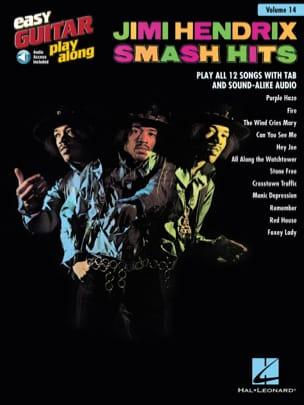 Jimi Hendrix - Easy Guitar Play-Along Volume 14 - Jimi Hendrix Smash Hits - Partition - di-arezzo.fr