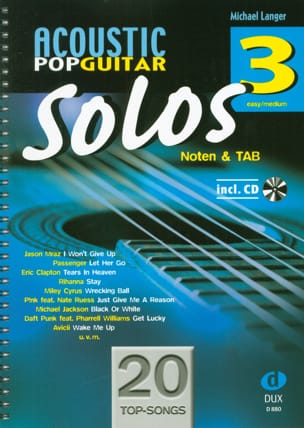 Acoustic Pop Guitar Solos - Volume 3 - Sheet Music - di-arezzo.co.uk