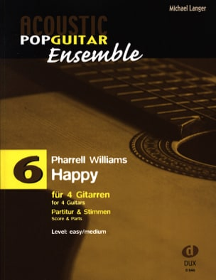 Happy - Acoustic pop guitar ensemble N°6 laflutedepan