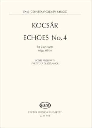 Echoes No. 4 - Miklós Kocsár - Partition - Cor - laflutedepan.com