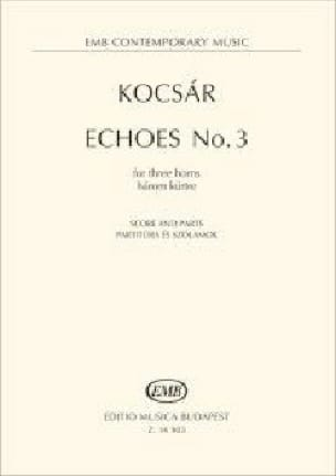 Miklós Kocsár - Echoes No. 3 - Sheet Music - di-arezzo.com