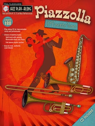 Astor Piazzolla - Jazz Play-Along Series Volume 188 - Piazzolla - Ten Favorite Tunes - Partition - di-arezzo.fr