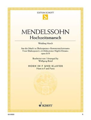 MENDELSSOHN - Wedding March March op. 61/9 - Sheet Music - di-arezzo.com