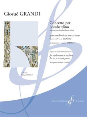 Giosué Grandi - Concerto Per Bombardino - Sheet Music - di-arezzo.co.uk