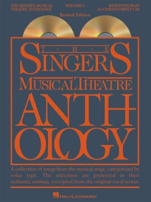 - The Singer's Musical Theatre Anthology pour Baritone / Bass - Volume 1 CD - Partition - di-arezzo.fr