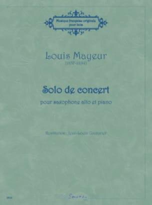 Solo de concert - Louis Mayeur - Partition - laflutedepan.com
