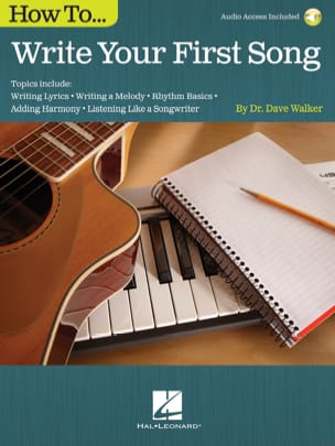 How to Write Your First Song Dave Walker Livre Jazz - laflutedepan