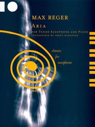 Aria Max Reger Partition Saxophone - laflutedepan