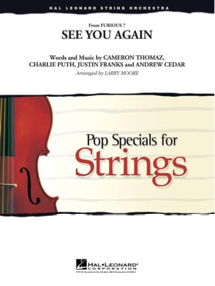 Wiz Khalifa feat. Charlie Puth - See You Again - Pop Specials for Strings - Sheet Music - di-arezzo.com