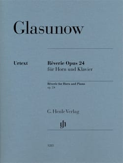 Alexander Glazounov - Reverie Opus 24 for Horn and Piano - Sheet Music - di-arezzo.co.uk