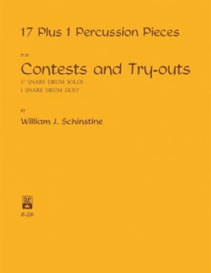 William J. Schinstine - 17 1 Pieces for Contests and Try-Outs Percussion - Sheet Music - di-arezzo.co.uk
