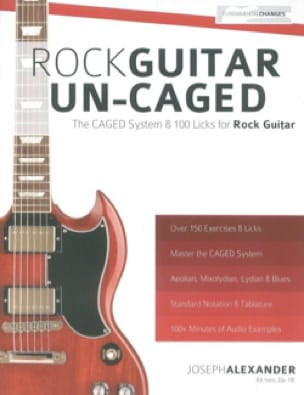 Joseph Alexander - Rock Guitar A-CAGED - The CAGED System - 100 Licks For Rock Guitar - Sheet Music - di-arezzo.co.uk