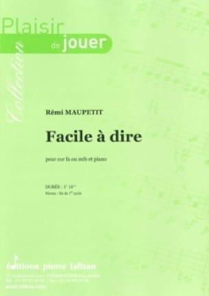 Rémi Maupetit - Easy to say - Sheet Music - di-arezzo.com