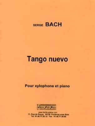 Tango Nuevo Serge Bach Partition Xylophone - laflutedepan