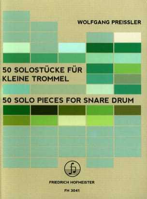 50 Solo Pieces for Snare Drum - Wolfgang Preissler - laflutedepan.com