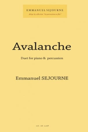 Emmanuel Séjourné - Avalanche - Sheet Music - di-arezzo.co.uk