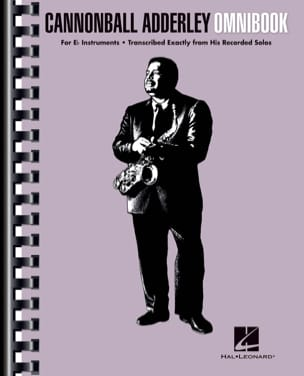 Canonball Adderley - Cannonball Adderley - Omnibook For E-flat Instruments - Sheet Music - di-arezzo.co.uk