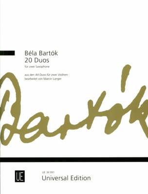 20 Duos - BARTOK - Partition - Saxophone - laflutedepan.com