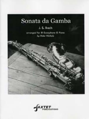 BACH - Sonata Da Gamba - Partition - di-arezzo.fr