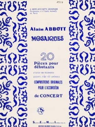 Mosaïques, 20 pièces pour débutants Alain Abbott laflutedepan