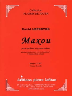 David Lefebvre - Maxou - Sheet Music - di-arezzo.co.uk