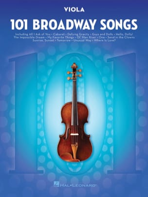 101 Broadway Songs for Viola Partition Alto - laflutedepan