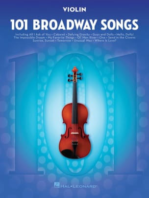 - 101 Broadway Songs for Violin - Partition - di-arezzo.fr