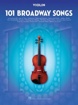 101 Broadway Songs for Violin - Partition - laflutedepan.com