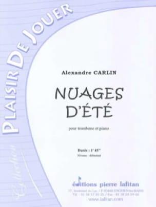 Alexandre Carlin - Nuages d'été - Partition - di-arezzo.fr