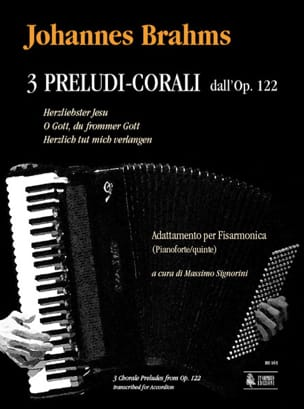 BRAHMS - 3 Chorus Preludes from Opus 122 - Sheet Music - di-arezzo.co.uk
