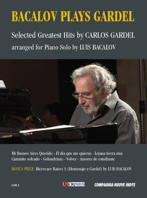 Carlos Gardel - Bacalov Plays Gardel - Partition - di-arezzo.fr