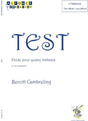 Benoit Cambreling - Test - Sheet Music - di-arezzo.co.uk