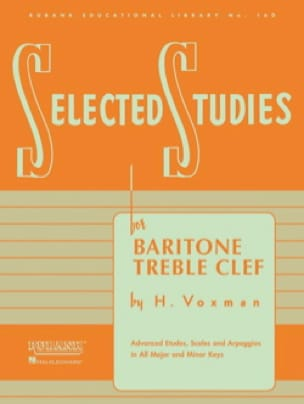 Himie Voxman - Selected Studies - Baritone TC - Sheet Music - di-arezzo.co.uk